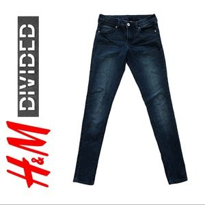 H&M Divided Skinny Stretch Jeans Blue, size 6